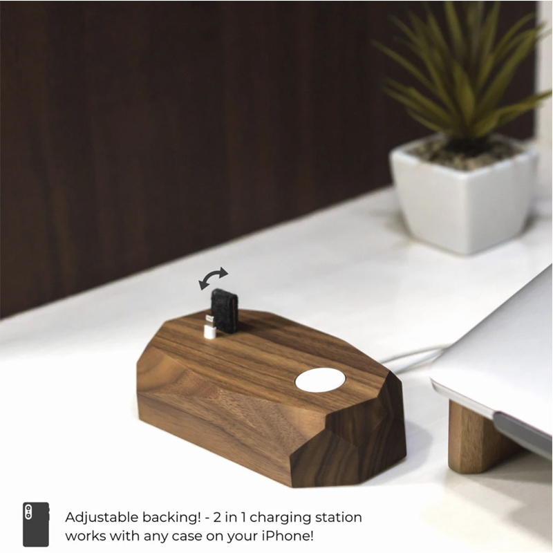 EarthHero - Combo Wooden iPhone Charging Dock - 3