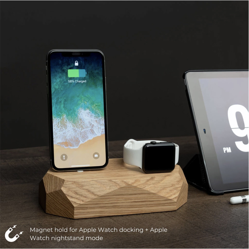 EarthHero - Combo Wooden iPhone Charging Dock - 4