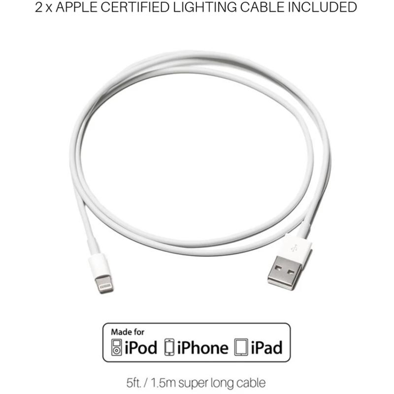 EarthHero - Dual Wooden iPhone Charging Dock - 5