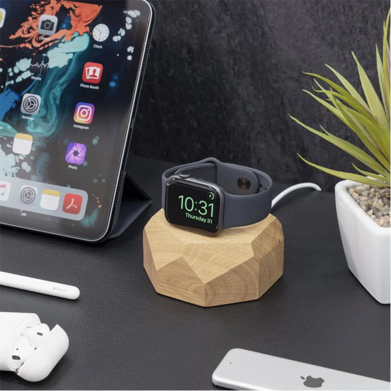 EarthHero - Wooden Apple Watch Charging Dock - 5