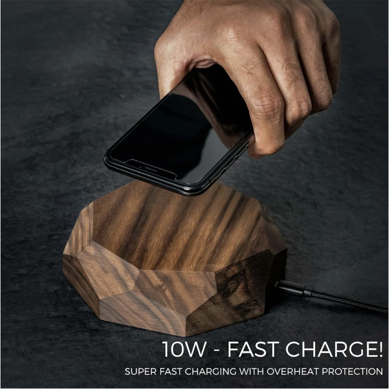 EarthHero - Wooden iPhone Wireless Charger - 4