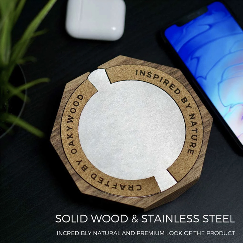 EarthHero - Wooden iPhone Wireless Charger - 5