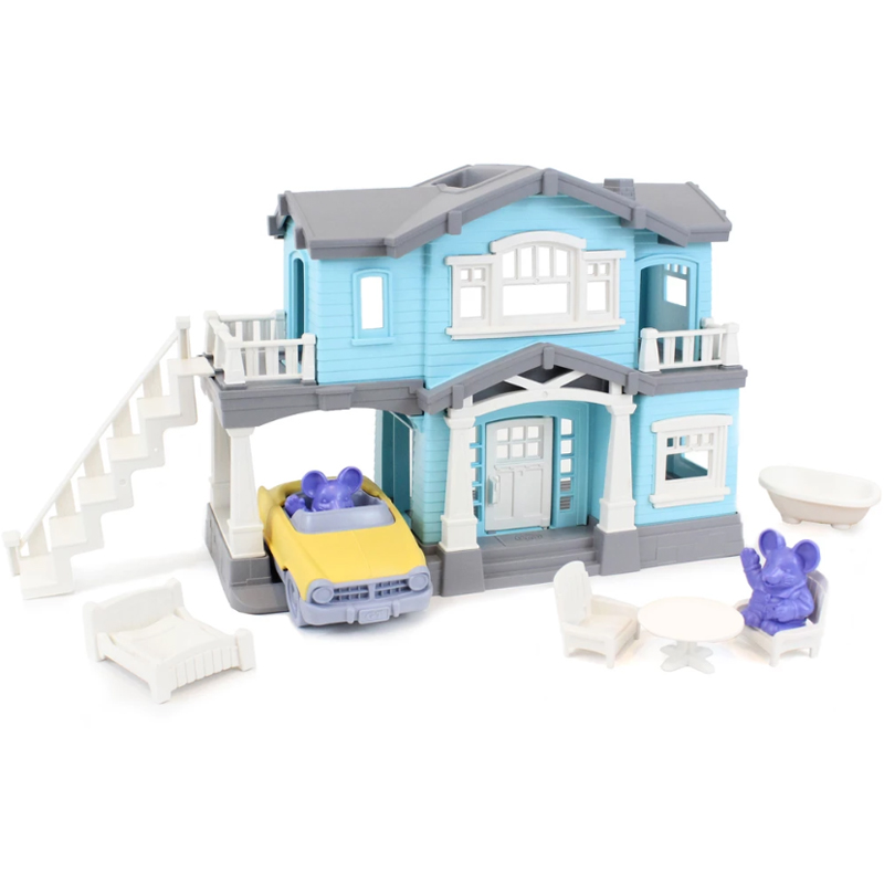 EarthHero - Pretend Play House Playset - Blue