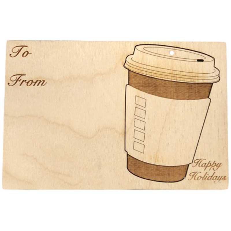 EarthHero - Coffee Cup Holiday Ornament Card - 1