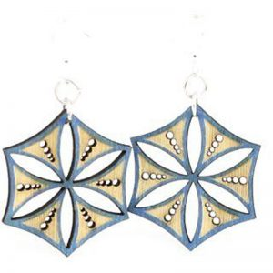 EarthHero - Ice Crystal Wooden Earrings - 1