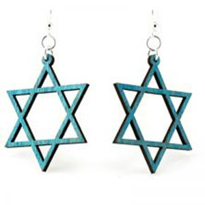 EarthHero - Jewish Star Wooden Earrings - 1