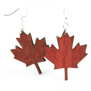 EarthHero - Maple Leaf Wooden Earrings - 1