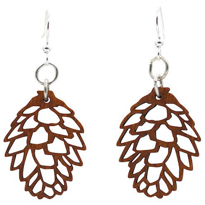 EarthHero - Pine Cone Wooden Earrings - 1
