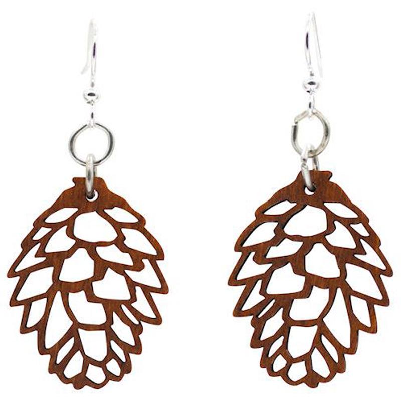 EarthHero - Pine Cone Wooden Earrings - 1