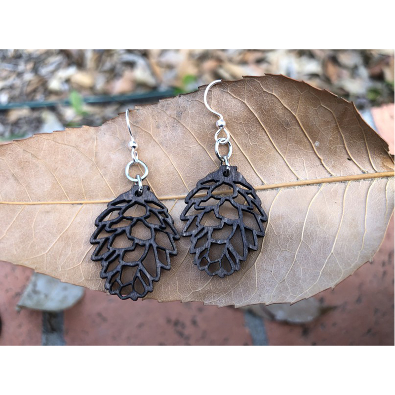EarthHero - Pine Cone Wooden Earrings - 2