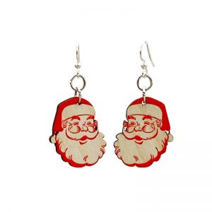 EarthHero - Santa Claus Wooden Christmas Earrings - 1