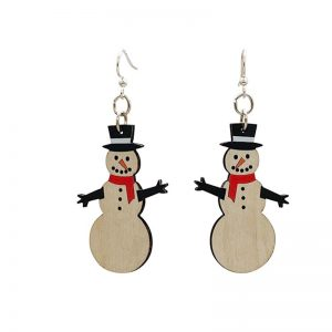 EarthHero - Snowman Wooden Earrings - 1