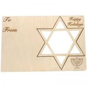 EarthHero - Star of David Holiday Ornament Card - 1