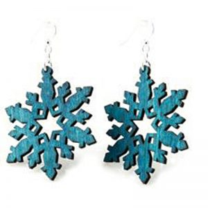 EarthHero - Star Snowflake Wooden Earrings - 1