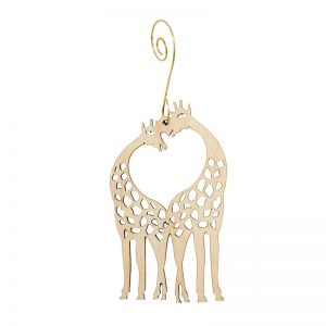 EarthHero - Giraffe Heart Holiday Ornament - 1
