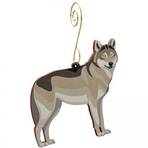 EarthHero - Grey Wolf Holiday Ornament - 1