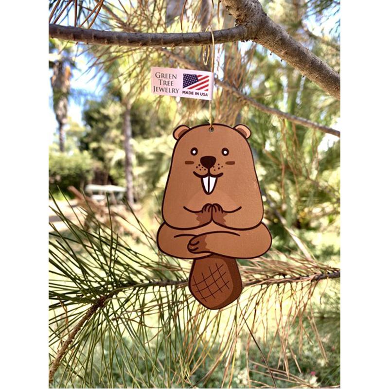 EarthHero - Yoga Beaver Holiday Ornament - 2