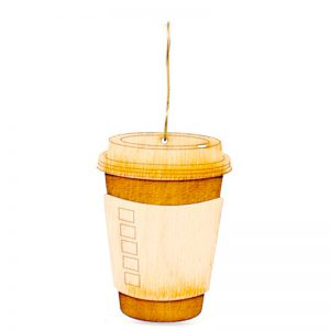 EarthHero - Coffee Cup Holiday Ornament - 1
