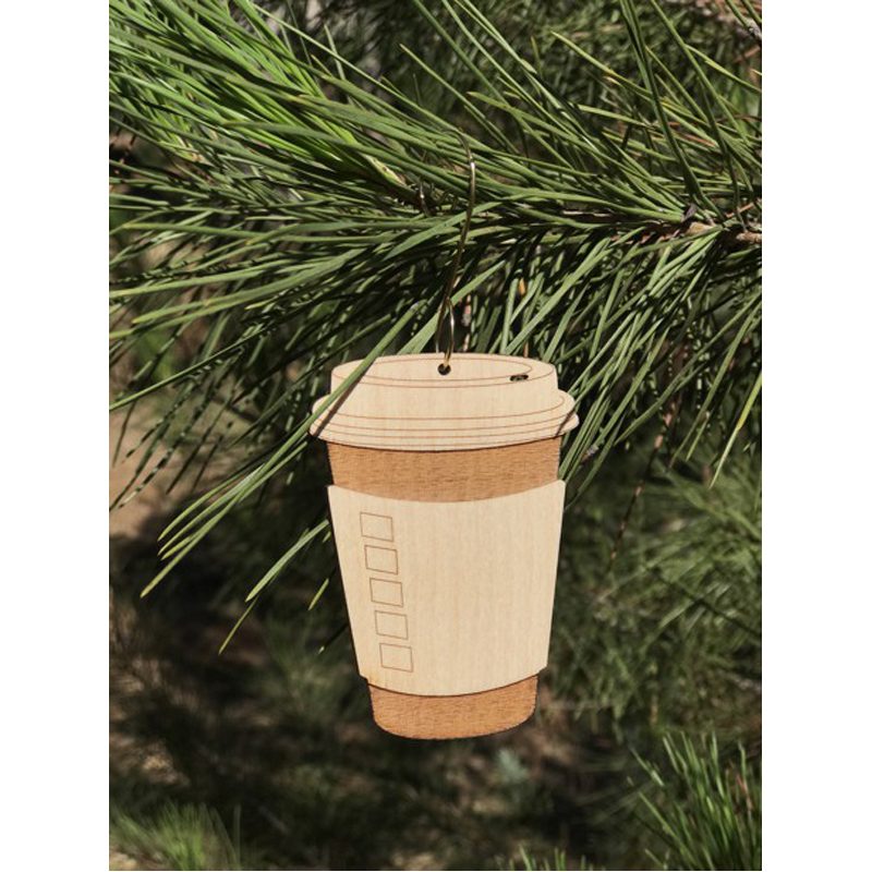 EarthHero - Coffee Cup Holiday Ornament - 2
