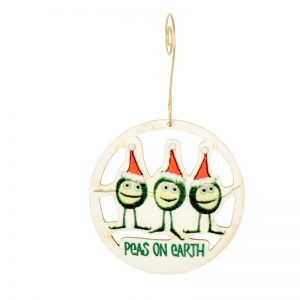 EarthHero - Peas On Earth Holiday Ornament - 1