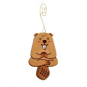 EarthHero - Yoga Beaver Holiday Ornament - 1