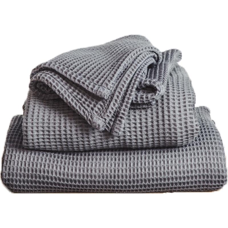 EarthHero - Bamboo Waffle Towel Set - Grey