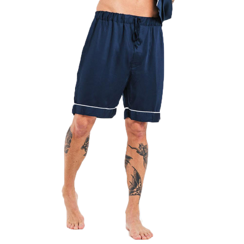 EarthHero - Men's Bamboo Lyocell Pajama Shorts - Blue Nights