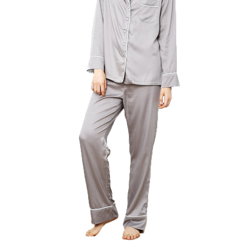 EarthHero - Women's Dove Grey Charcoal Bamboo Pajama Pants - 1