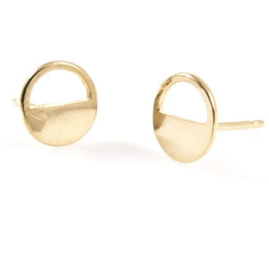EarthHero - Half-Open Circle Gold Stud Earrings - 1