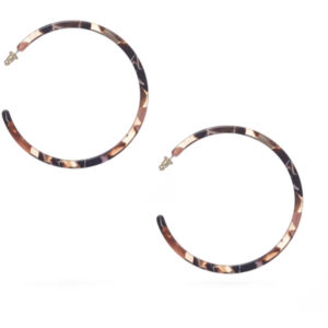 EarthHero - Rose Confetti Large Hoop Earrings - 1