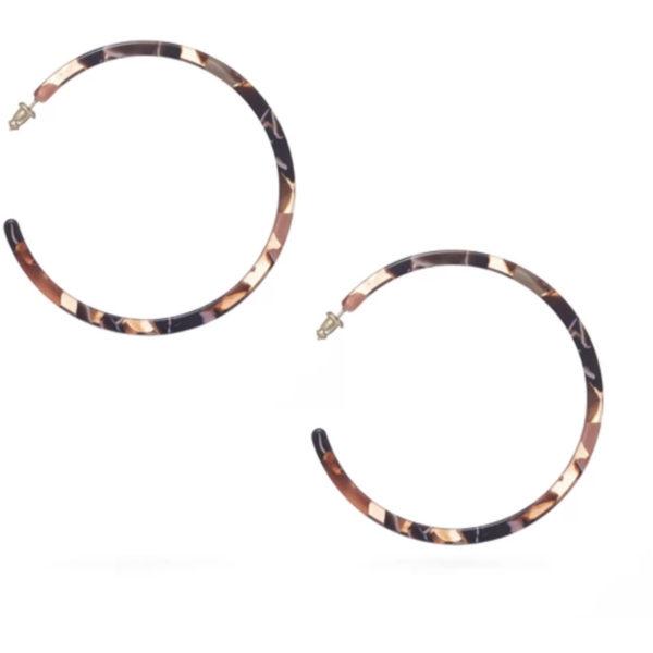 EarthHero - Rose Confetti Large Hoop Earrings - 1