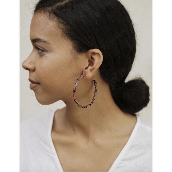 EarthHero - Rose Confetti Large Hoop Earrings - 2