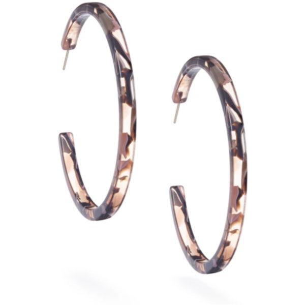 EarthHero - Rose Confetti Large Hoop Earrings - 3