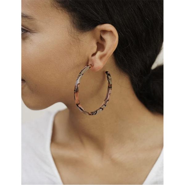 EarthHero - Rose Confetti Large Hoop Earrings - 4
