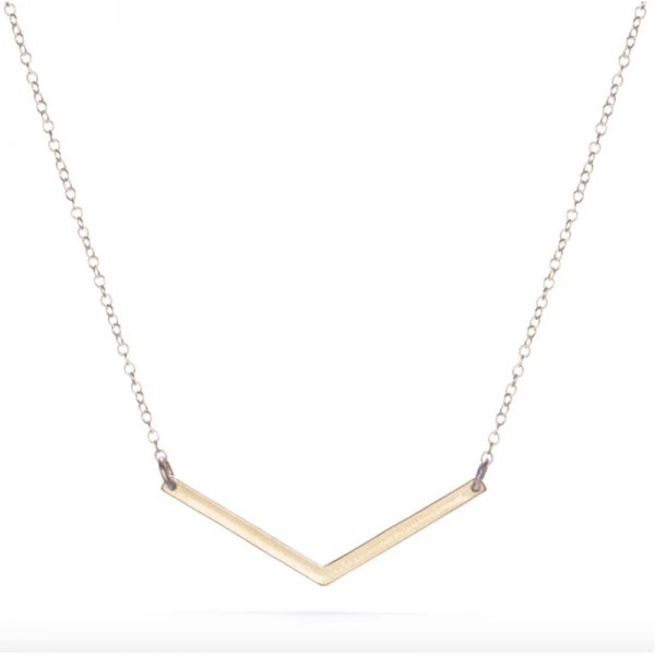 EarthHero - Sustainable Small V Necklace - 4
