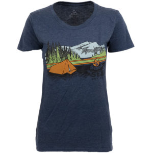 EarthHero - Fireside Camp Women's Graphic T-Shirt - Navy