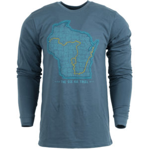 EarthHero - Unisex Ice Age Trail Map Longsleeve T-Shirt - 1