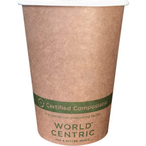 EarthHero - World Centric Kraft Compostable Hot Cup 12 oz - 1