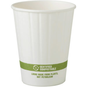 EarthHero - World Centric White Compostable Hot Cup 12 oz - 1