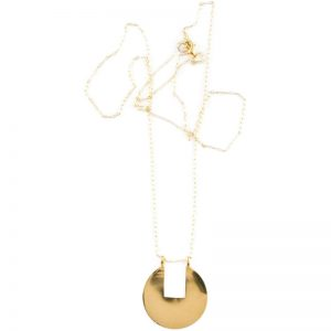EarthHero - Sustainable Removed Rectangle Pendant Necklace - 1