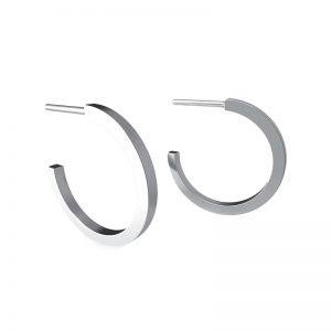 EarthHero - Recycled Sterling Silver Circle Hoop Earrings - 1