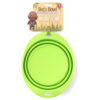 EarthHero - Silicone Collapsible Pet Travel Bowl - Green