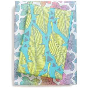 EarthHero - Tropical Leaves Recycled Gift Paper (3pk) 1