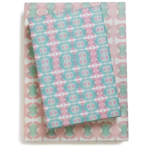 EarthHero - Pink Beach House Recycled Gift Paper (3pk) 1