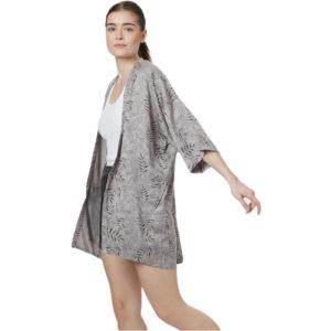 EarthHero - Women's Grey Floral Sawara Blouse - 1