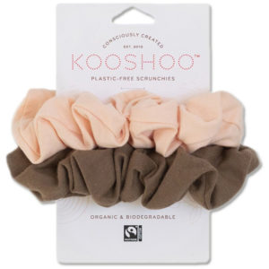 EarthHero - Blush Walnut Organic Hair Scrunchies 1