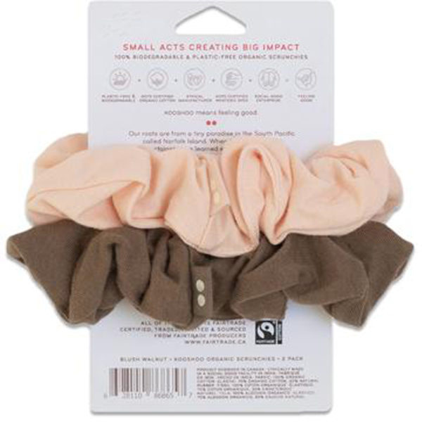 EarthHero - Blush Walnut Organic Hair Scrunchies 2