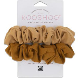 EarthHero - Gold Sand Organic Hair Scrunchies 1
