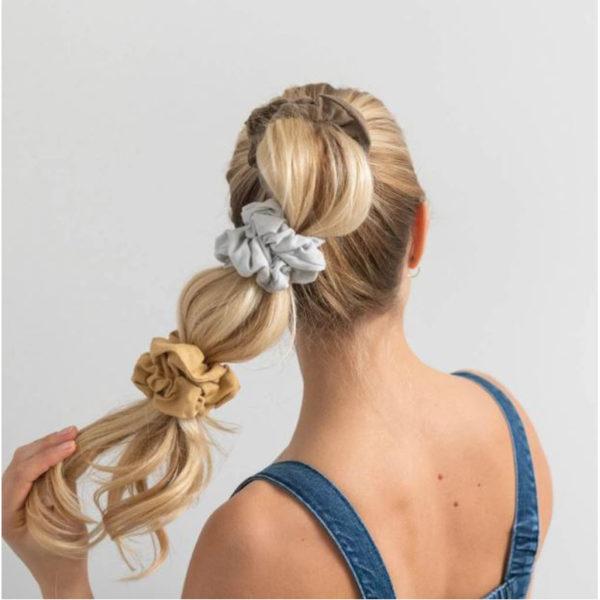 EarthHero - Gold Sand Organic Hair Scrunchies 4