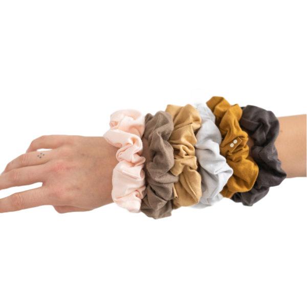 EarthHero - Gold Sand Organic Hair Scrunchies 5